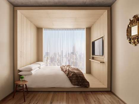 "Yacht-Style Hotels Rooms - New York's Public Hotel Boasts Simple Rooms ""Like Cabins on a Yacht"""