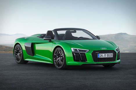 Drop-Top Roadsters - The R8 Spyder V10 Plus is Audi's Most Powerful Open-Air Supercar Ever