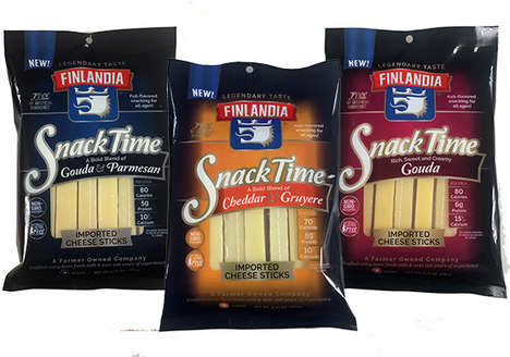 Sophisticated Cheese Stick Snacks - Finlandia's Snack Time Packs Have Individually Wrapped Portions