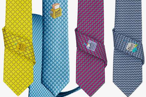 Luxury Necktie Subscriptions - The Hermes Necktie Subscription Will Clean and Repair its Products
