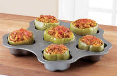 Stuffed Pepper Baking Pans - The 'Stuff It Up Pan' Features Sections for Holding Up to Six Peppers