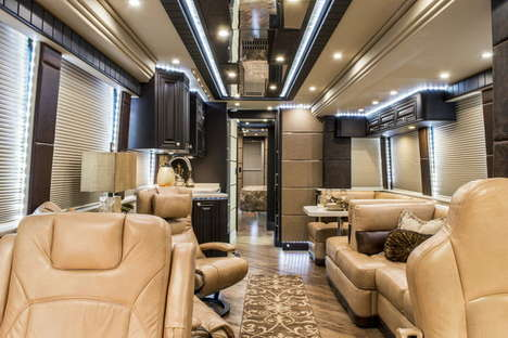 Luxury Motor Homes - Prevost Builds and Designs Luxurious Apartments on Wheels