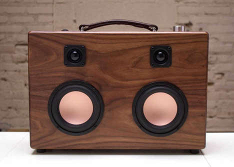 Handmade Hifi Speakers - The Audio House Modern Boombox Boasts Bluetooth Connectivity and More