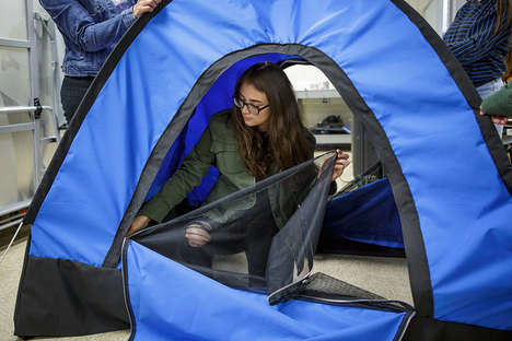 Solar-Powered Tent Initiatives - Teens from DIY Girls Have Created a Tent for People Without Homes