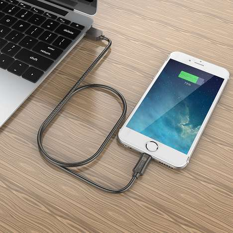 Stainless Steel Lightning Cables - The iClever Metal Lightning Cable is Wrapped in Flexible Steel