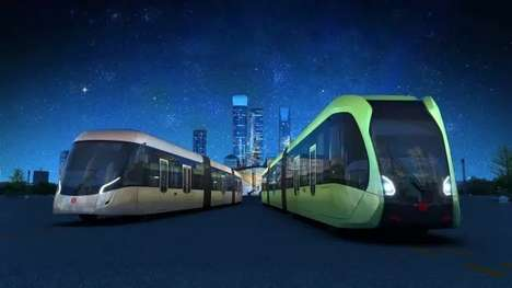 Driverless Train Concepts - This Train From CRRC Zhuzhou Runs on Paint Lines Instead of Rails