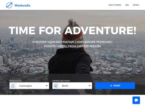 Surprise Travel Platforms - 'Weekendia' Offers Travel Trips That are Revealed Just Before Departure