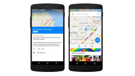 Pride Parade Mapping Services - Google Maps Implemented 'Pride Maps' as a Parade-Locating Resource