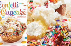 Celebratory Cake Ice Creams - The Cold Stone Creamery Confetti Cupcake Ice Cream Celebrates Summer