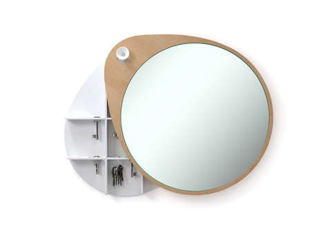 Cabinet-Hiding Pendulum Mirrors - 'The Egg' Mirror Swings to the Side, Revealing a Hidden Cabinet