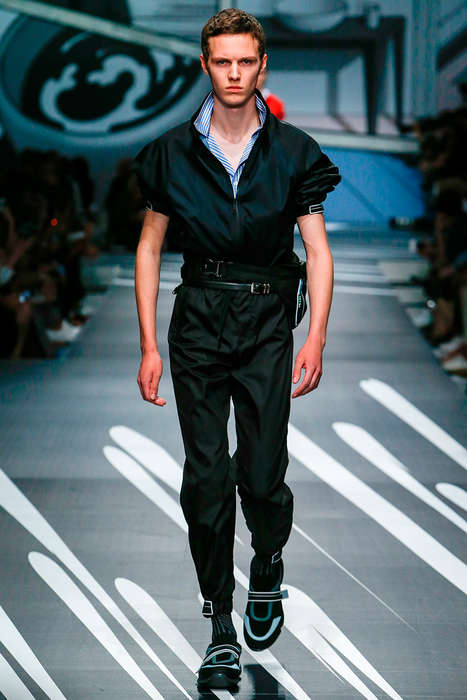 Vintage Pilot-Inspired Fashion - The Spring/Summer Prada Collection Was Shown at Milan Fashion Week