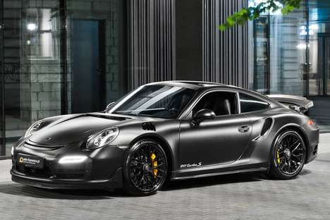 "Superhero-Inspired Sports Cars - The Porsche ""Dark Knight"" 911 Turbo S Looks Menacing in Matte Black"