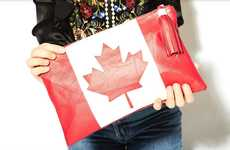Sustainable Patriotic Clutches - life of manek's Canada 150 Clutch Tributes the Nation's Birthday