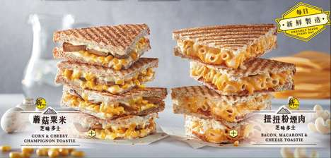 Cheesy Noodle Sandwiches - The New McDonald's 'Toastie' is Filled With Gooey Mac and Cheese