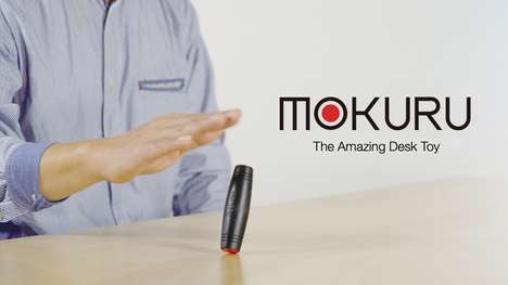 Wooden Fidget Toys - MOKURU is a Desktop Toy That Flips, Rolls and Does Tricks