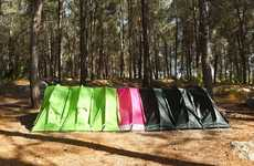 Modular Tent Systems - You Can Zip Rhinowolf's Modular Supertents Together to Create More Space