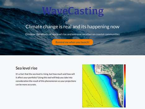 Hyper-Local Marine Weather Apps - The 'WaveCasting' App Displays Weather Forecasts for Sea Levels