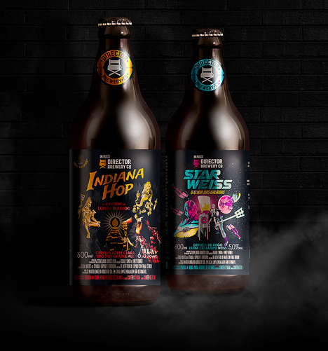 Filmic Beer Branding - The Director Brewery Co Names Its Brews After Iconic Movies