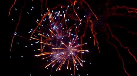 Interactive Fireworks Shows - Microsoft Set Up a Fireworks Display to Challenge One-Way Streaming