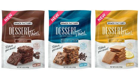 Crispy Cracker Dessert Snacks - The Snack Factory Dessert Thins are a Light, Airy Treat to Enjoy