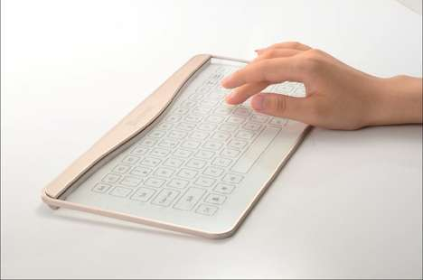 Transparent Glass Keyboards - The Bastron Glass Keyboard Boasts a Futuristic and See-Thru Design