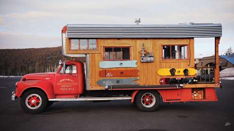Converted Firetruck Homes - This Home on Wheels Was Made from a 1953 GMC firetruck