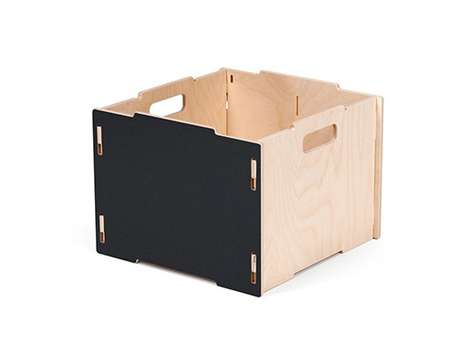 Modular Wooden Crates - These Wooden Crates Can Be Snapped Together for Easy Storage