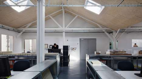 Revitalized Industrial Workshops - The New Studio for Tolila + Gilliland is a Stripped-Down Attic