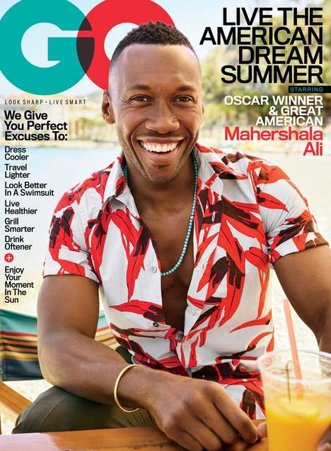 Oscar-Winner Magazine Editorials - GQ Features 'Moonlight' Star Mahershala Ali on its July Cover