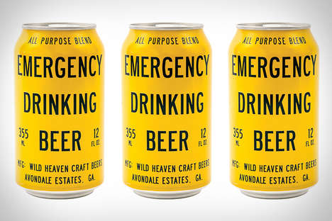 Humorous Alcohol Branding - Emergency Drinking Beer From Wild Heaven Beer is Refreshing and Crisp