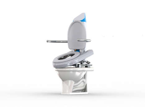 Assistive Elderly Toilet Seats - The 'Uppie' Toilet Seat Lifts Elderly Adults Off of the Thrown