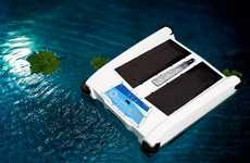 Eco Pool-Skimming Robots - The Solar Breeze NX Automatic Pool Skimmers are Powered by Solar Energy