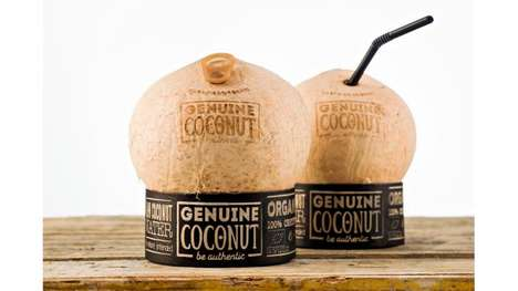 Pop Tab Coconut Shells - Genuine Coconut Water Lets Consumers Enjoy Coconut Water from a Coconut