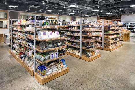 Substainble High-End Grocers - Fukushimaya Supermarket Was Made from ZAM Pipes and Wine Crates