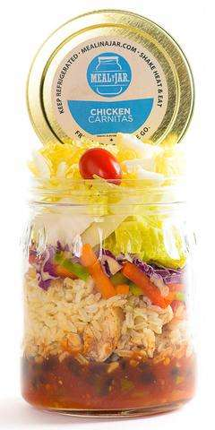 Ready-Made Mason Jar Meals - 'Meal in a Jar' Offers Nutritious Meals in Portable Glass Jars