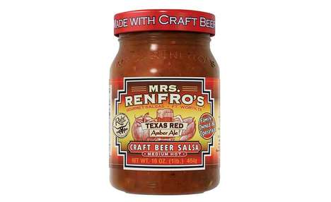 Beer-Infused Salsas - The Mrs. Renfro Craft Beer Salsa is Made with Texas Red Amber Lager
