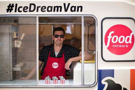 TV Network Dessert Pop-Ups - Food Network UK's Ice Dream Van Served Nostalgic Flavors on Its Tour