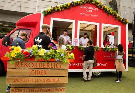 Swedish Cider Lifestyle Pop-Ups - The Rekorderlig Beautifully Swedish Roadshow is Touring the UK