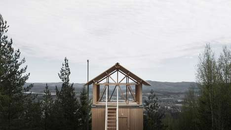 Stilted Swedish Shacks - This Bergaliv Landscape Hotel Building Peers Over Forest Treetops