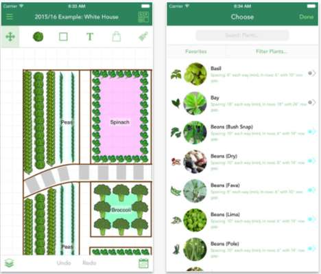 Efficient Garden-Designing Apps - Garden Plan Pro Allows Users to Plan Out Their Gardening Processes