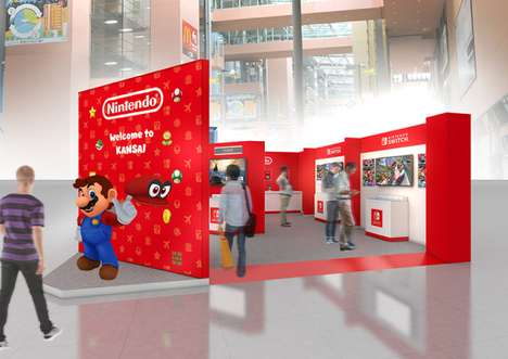 In-Airport Gaming Stations - Nintendo Opened a Free Gaming Area in Kansai International Airport
