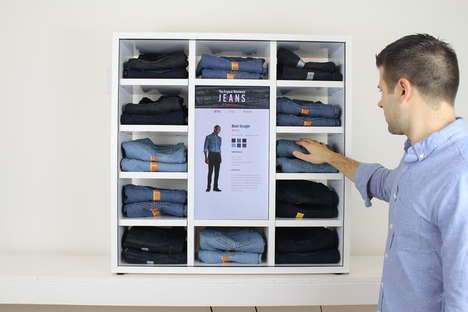 Interactive Denim Displays - Frame Jeans Display Helps Consumers Learn About Different Styles