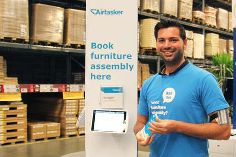 In-Store Assembly Service Kiosks - IKEA Offers Stations Where Shoppers May Book an 'Airtasker'
