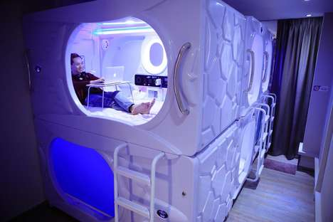 Space-Themed Sleeping Pods
