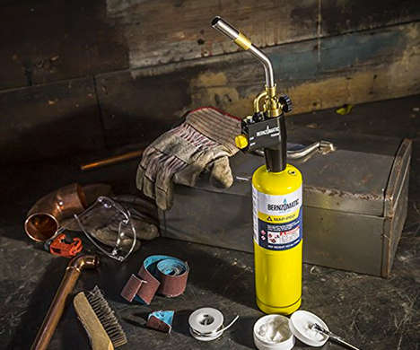Ultra-Intense Torch Tools - The Bernzomatic High-Intensity Fire Torch is for Repairs and Cooking