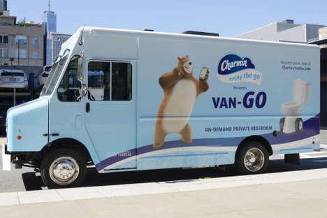 Mobile Toilet Services - The Charmin Van-GO is the First Ever On-Demand Bathroom Service