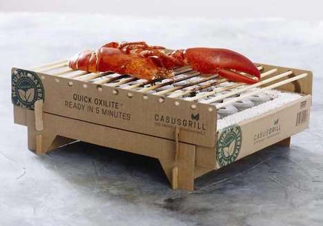Biodegradable BBQ Grills - The 'CasusGrill' is Ready to Grill in Five Minutes and is Eco-Friendly