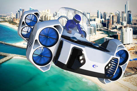 Electric Flying Quads - The Neva AirQuadOne Flying Vehicle is the First of Its Kind