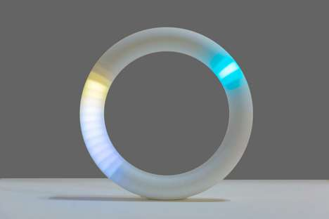 Northern Lights-Inspired Clocks - The 'Aurora' Clock Uses Lighting to Display Time