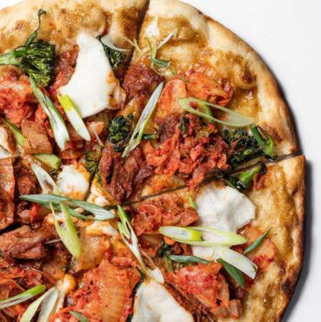 Spicy Jackfruit Pizzas - Virtuous Pie's 'Kim Jack' Puts a Vegan Spin on Classic Korean Flavors